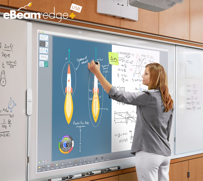 Tablica interaktywna eBeam edge+ USB na lekcji fizyki